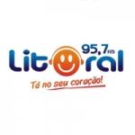 Logo da emissora Rádio Litoral 95.7 FM