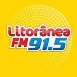 Logo da emissora Rádio Litorânea 91.5 FM