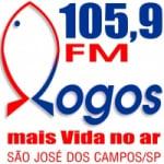 Logo da emissora Rádio Logos 105.9 FM