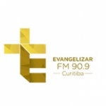 Logo da emissora Rádio Evangelizar 90.9 FM
