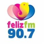 Logo da emissora Rádio Feliz 90.7 FM
