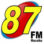 Logo da emissora Rádio Macaíba 87.9 FM