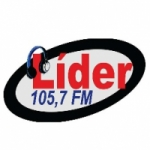 Logo da emissora Rádio Líder 105.7 FM