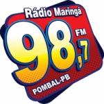 Logo da emissora Rádio Maringá 98.7 FM