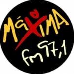 Logo da emissora Rádio Máxima 97.1 FM