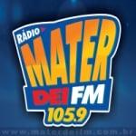 Logo da emissora Rádio Mater Dei 105.9 FM