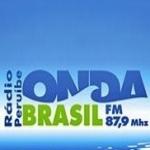 Logo da emissora Rádio Onda Brasil 87.9 FM
