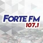 Logo da emissora Rádio Forte 107.1 FM