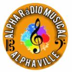 Logo da emissora Rádio Alpha Musical