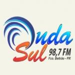 Logo da emissora Rádio Onda Sul 98.7 FM