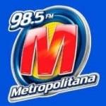 Logo da emissora Rádio Metropolitana 98.5 FM