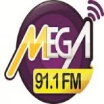 Logo da emissora Rádio Mega 91.1 FM