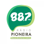Logo da emissora Rádio Pioneira 88.7 FM