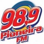Logo da emissora Rádio Pioneira 98.9 FM