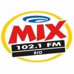 Logo da emissora Rádio Mix 102.1 FM
