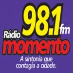 Logo da emissora Rádio Momento 98.1 FM