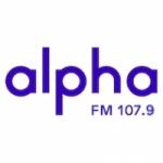 Logo da emissora Rádio Alpha 107.9 FM
