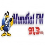 Logo da emissora Rádio Mundial 91,3 FM