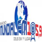 Logo da emissora Rádio Mundial 105.9 FM