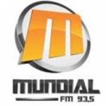 Logo da emissora Rádio Mundial 93.5 FM