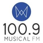 Logo da emissora Rádio Musical 100.9 FM