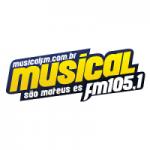Logo da emissora Rádio Musical 105.1 FM