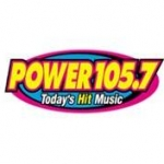 Logo da emissora Radio KMCK 105.7 FM