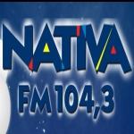 Logo da emissora Rádio Nativa 104.3 FM