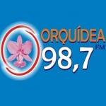 Logo da emissora Rádio Orquídea 98.7 FM