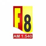 Logo da emissora Rádio PRF-8 Emissora de Botucatu 1540 AM