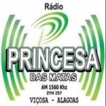 Logo da emissora Rádio Princesa das Matas 1560 AM
