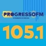 Logo da emissora Rádio Progresso 105.1 FM