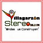 Logo da emissora Radio Villagarzón Stereo 88.3 FM