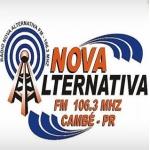 Logo da emissora Rádio Nova Alternativa 106.3 FM