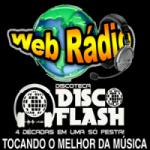 Logo da emissora Rádio Disco Flash Sobral