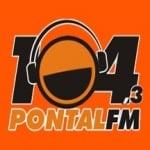 Logo da emissora Rádio Pontal 104.3 FM