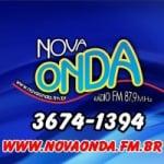 Logo da emissora Rádio Nova Onda 87.9 FM