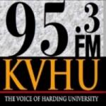 Logo da emissora Radio KVHU Harding University 95.3 FM