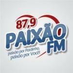 Logo da emissora Rádio Paixão 87.9 FM