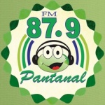 Logo da emissora Rádio Pantanal 87.9 FM