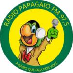 Logo da emissora Rádio Papagaio 97.5 FM