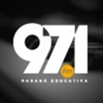 Logo da emissora Rádio Paraná Educativa 97.1 FM