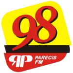 Logo da emissora Rádio Parecis 98.1 FM