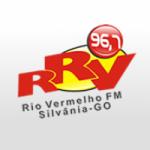 Logo da emissora Rádio Rio Vermelho 96.7 FM
