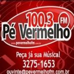 Logo da emissora Rádio Pé Vermelho 100.3 FM