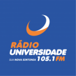 Logo da emissora Rádio Universidade 105.1 FM