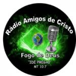 Logo da emissora Rádio Amigos de Cristo Fogo de Deus
