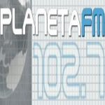 Logo da emissora Rádio Planeta 102.7 FM