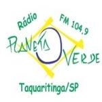 Logo da emissora Rádio Planeta Verde 104.9 FM
