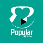 Logo da emissora Rádio Popular 96.9 FM